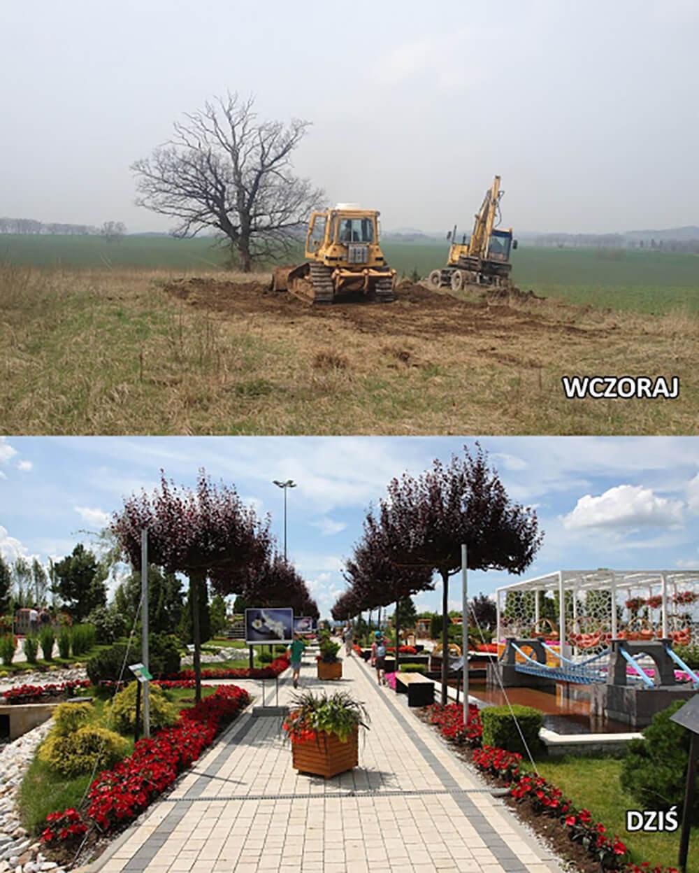budowa parku