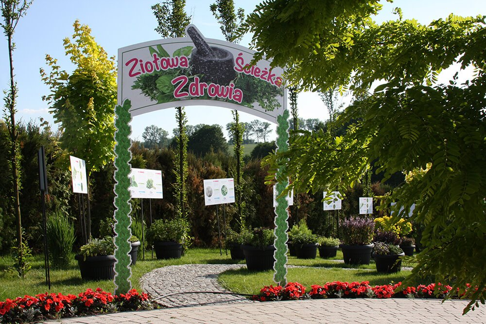 ziołowa ścieżka zdrowia park minieuroland ogród kotlina kłodzka